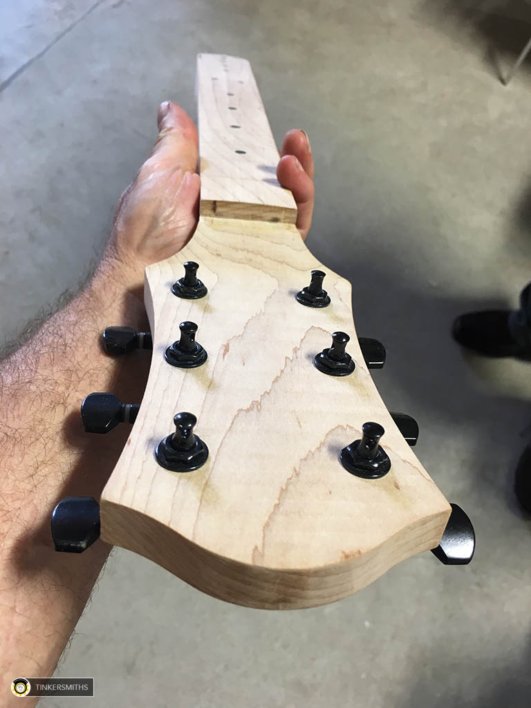 Custom Guitar Necks made by Tinkersmiths Makerspace Charlottesville Va