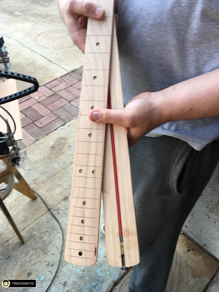 Truss Rod Inserted Into CNC Milled Slot