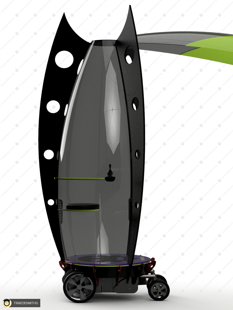 Tinkersmiths Pesonal Mobility Pod Side View