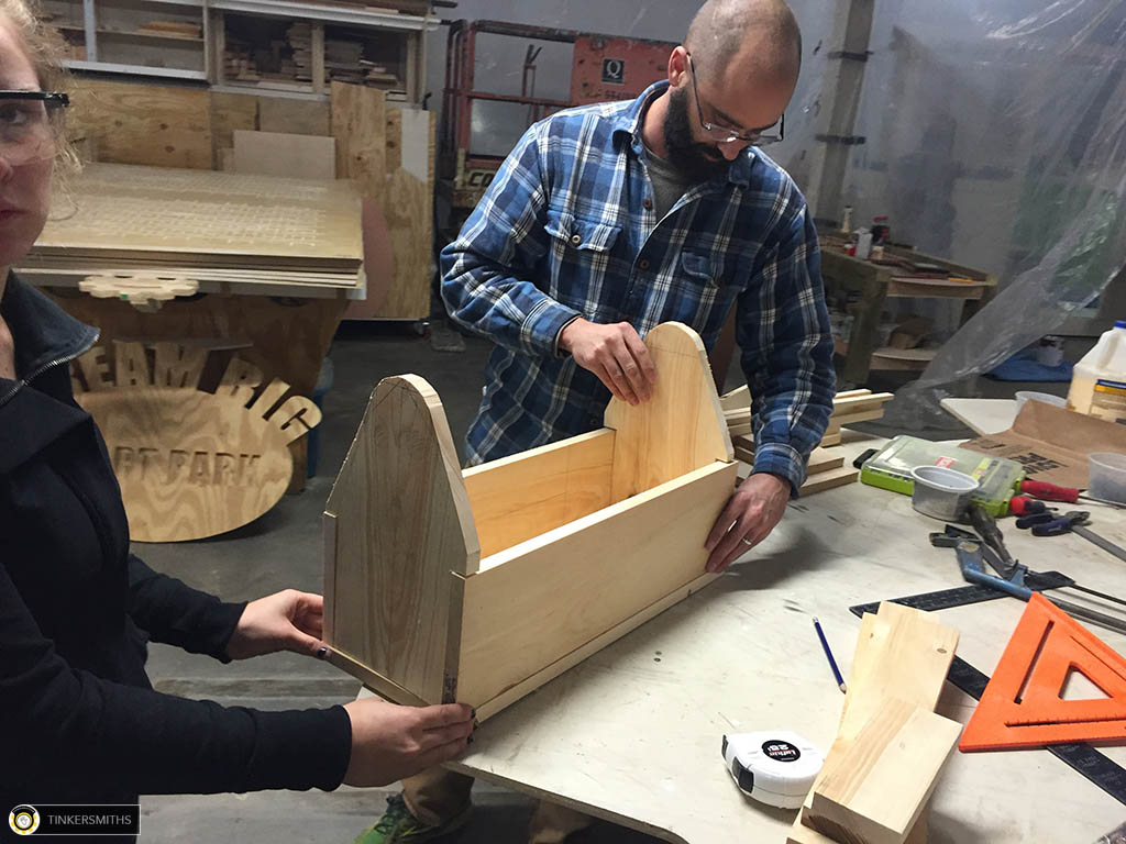Making a Wooden Toolbox at Tinkersmiths Makerspace Woodworking Workshop in Charlottesville VA